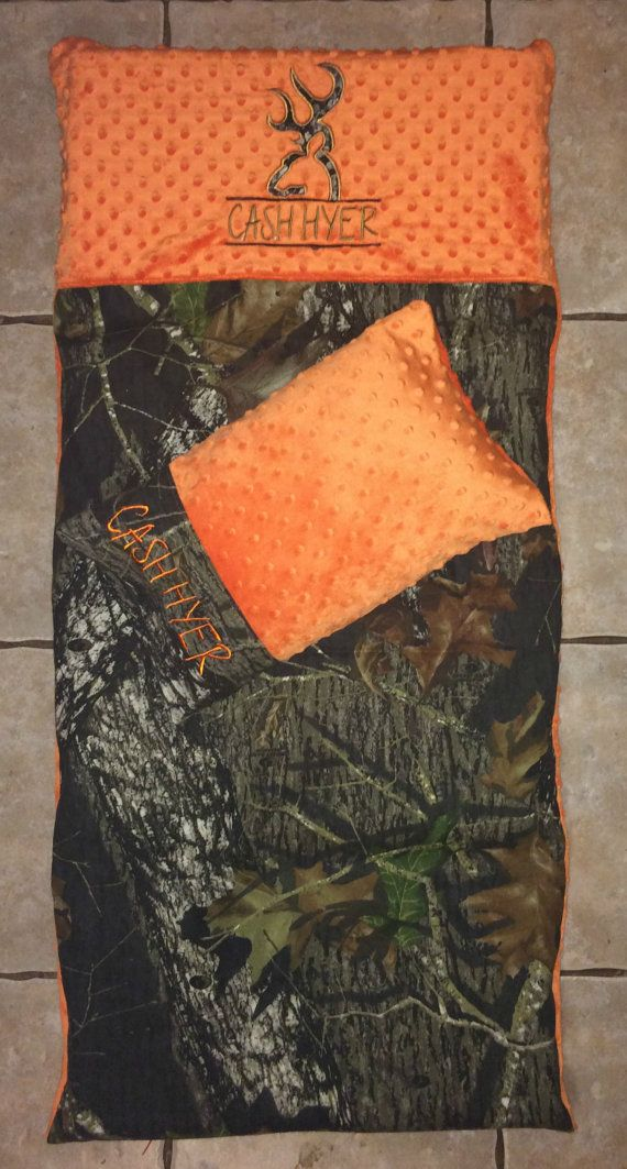 Custom Appliqued Camo Nap Mat Cover Blanket By