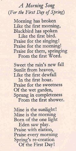 Morning Has Broken Is A Popular And Well Known Christian Hymn