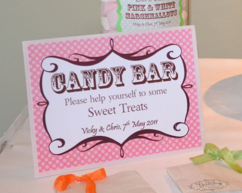 Candy Buffet Bar Signs