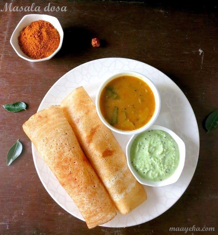 How to make masala dosa maayeka lentils indian food recipes and food forumfinder Images