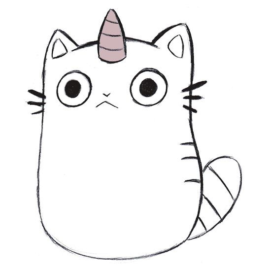 Caticorn Unicat Sticker By Unicorndoodles Kitty Drawing Cute Disney Drawings Cat Coloring Page