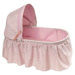 Folding Doll Cradle with Rosebud Fabric