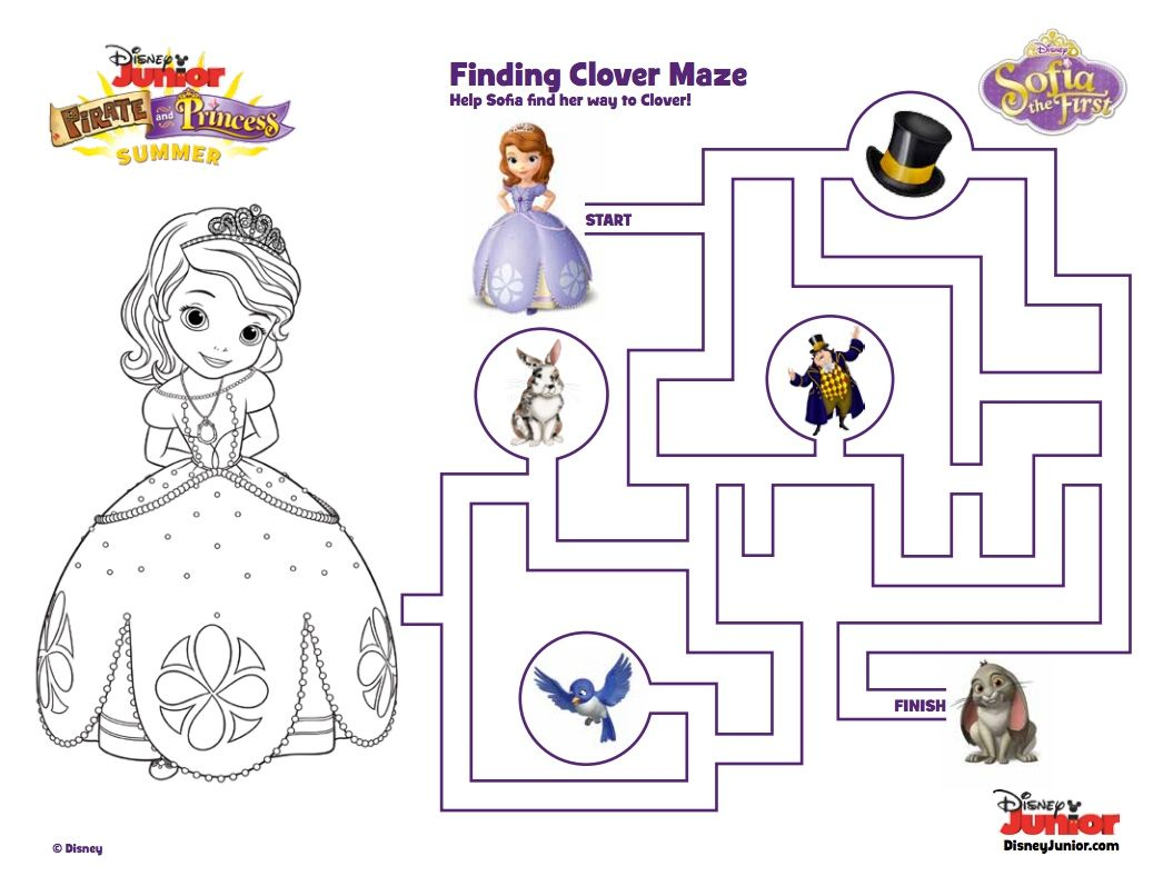 Find Clover In This Sofia The First Maze