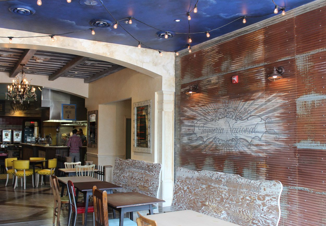 Bar Interiors Design Painting Restaurant Sign Painted On Corrugated Metal With Bar In The .