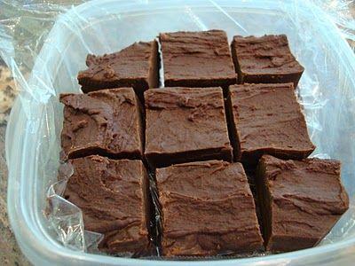 Chocolate Peanut Butter Microwave Fudge
