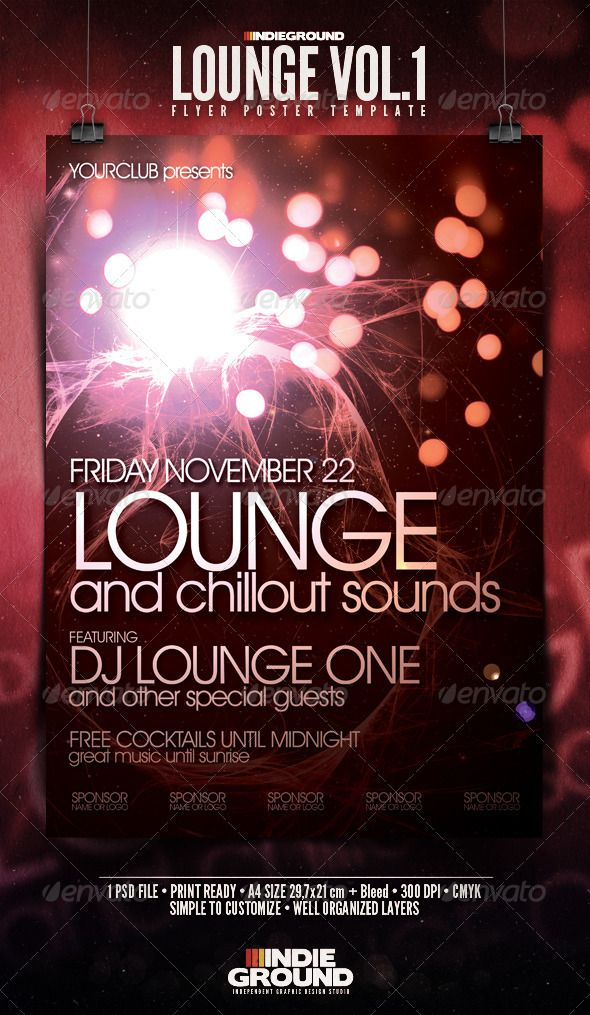 Lounge Flyer/Poster $5 | Web Design | Pinterest | Print Templates