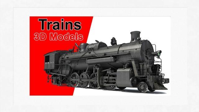 Trains 3D Models