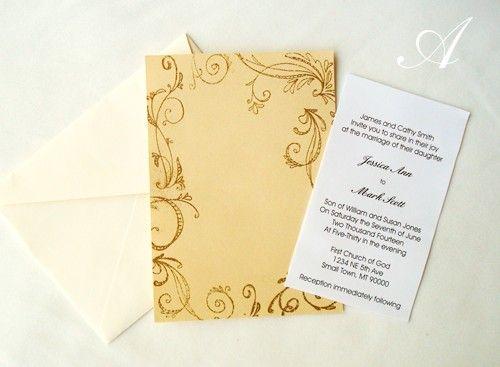 homemade wedding invitation ideas   Wedding   Pinterest   Homemade ...
