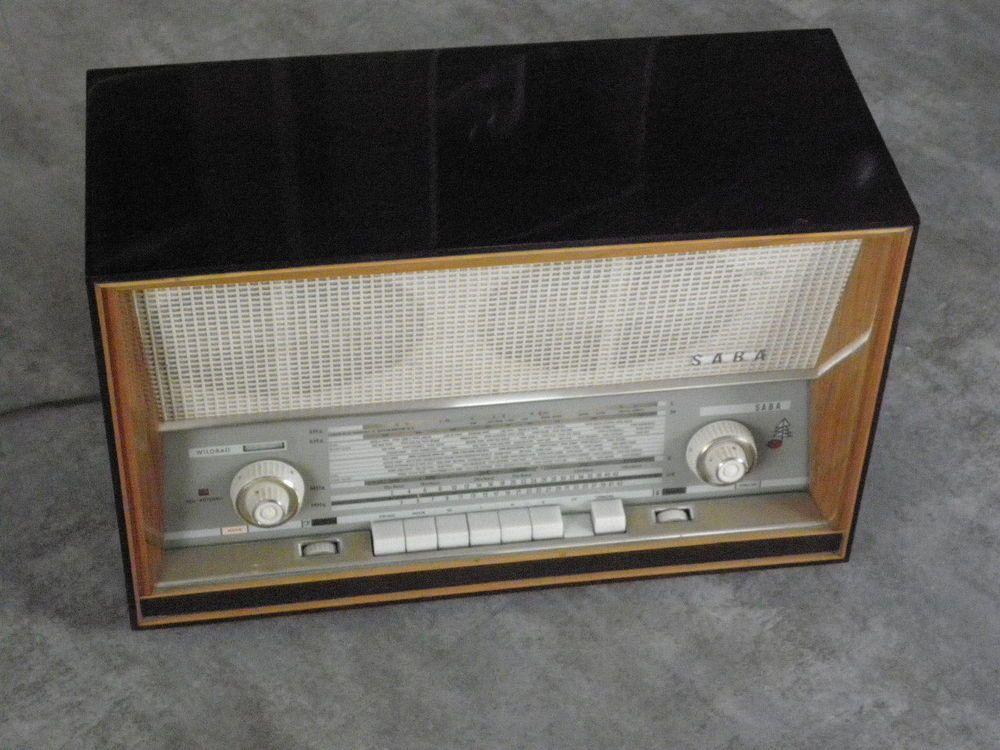 vintage radio tsf valve Work saba wildbad 11 tuner old tube