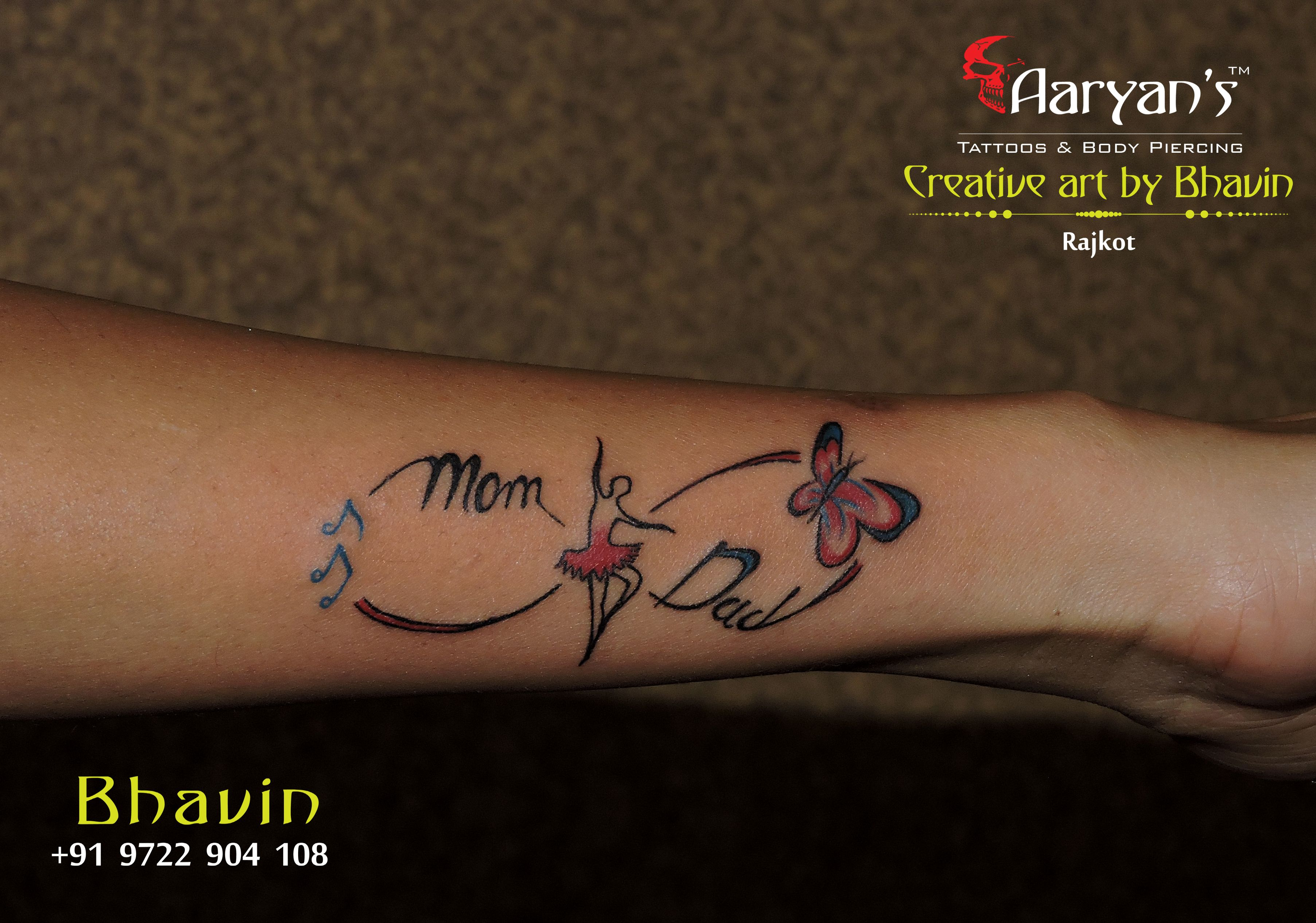 Infinity Tattoo... #Mom #Dad #Music #Butterfly # ...