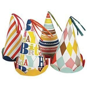 Patterned Birthday Party Hats