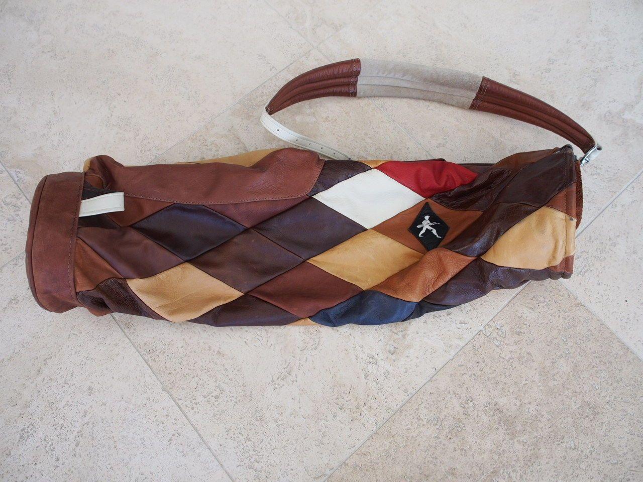Custom Argyle Mackenzie Walker Leather Golf Bag Ebay