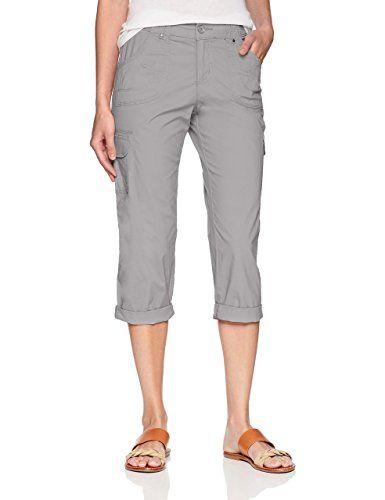 8c34cf9c LEE Women's Relaxed Fit Nikki Knit Waist Cargo Capri Pant, Alloy, 8 ...