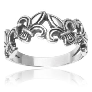 Tressa Collection Sterling Silver Fleur-de-lis Ring | Overstock.com Shopping - The Best Deals on Sterling Silver Rings