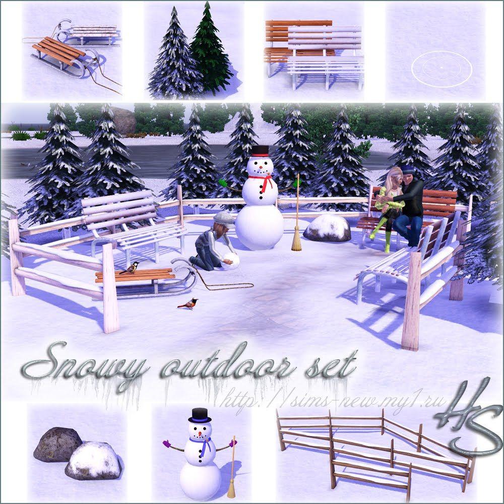Sims 3 Seasons Christmas Tree: Helen-sims: TS3 Snowy Outdoor Set