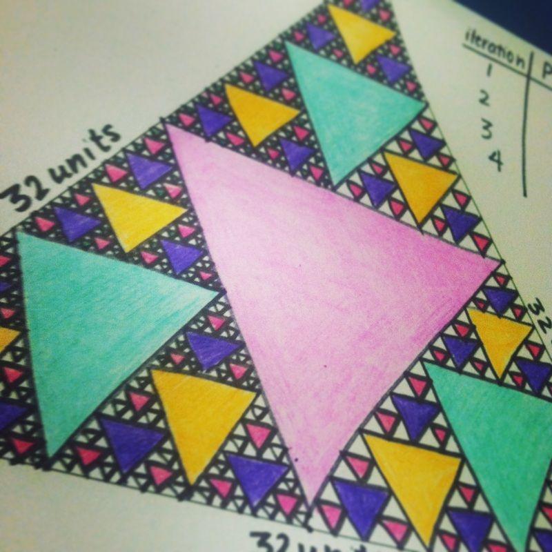 Sierpinskis triangle mathart integration – Sierpinski Triangle Worksheet