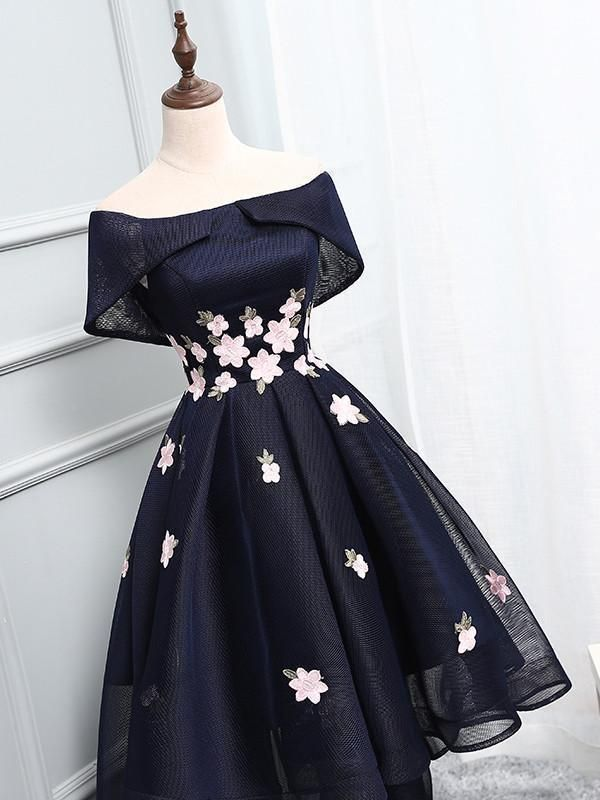 a5d096ce807b6 Navy Off Shoulder Simple Cheap Short Homecoming Dresses 2018, CM509  Homecoming Dresses, Casual Dresses