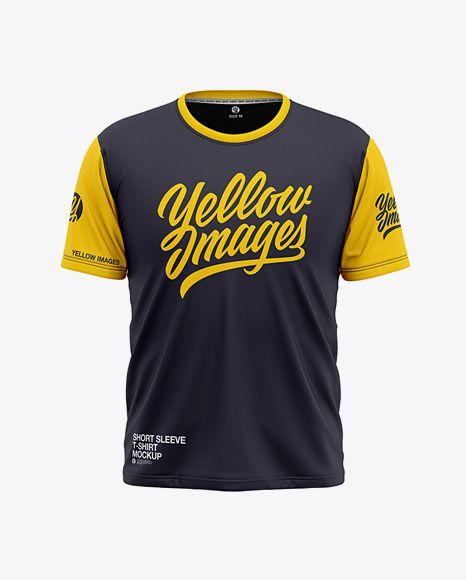 Download Mens Short Sleeve T-Shirt Front View Jersey Mockup PSD ...