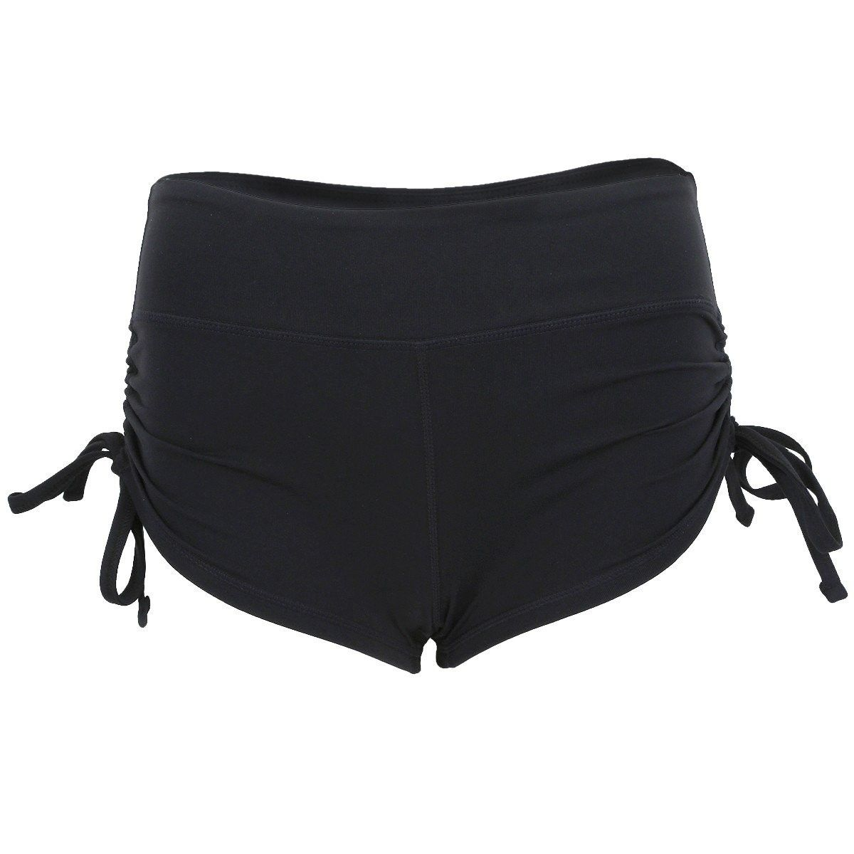 Yoga Shorts for Women - Activewear Exercise Fitness Gym Workout Athletic Running Jogging Shorts - Bl...