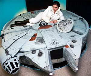 Awesome Millennium Falcon Bed