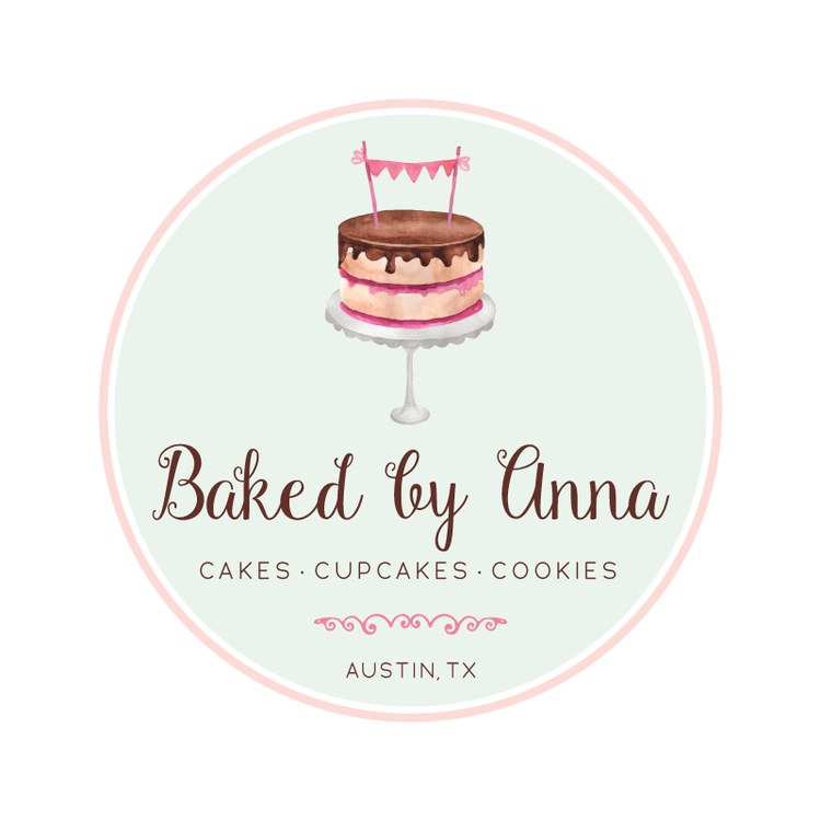 Cake With Bunting Premade Logo Design Customized With Your