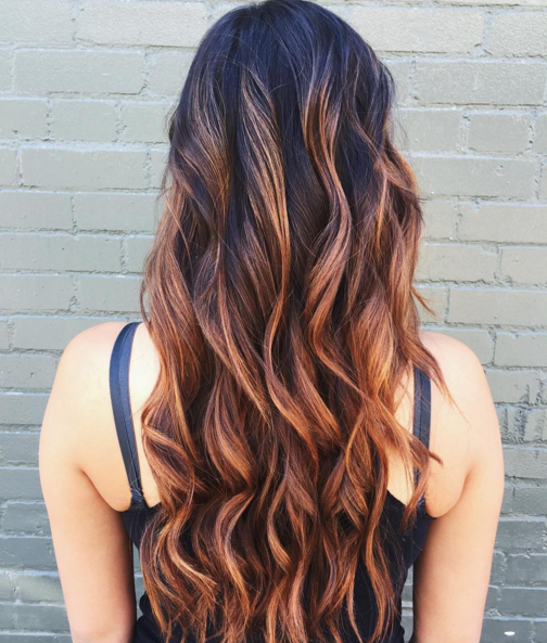 Lighten up dark roots with a warm copper balayage hair color lighten up dark roots with a warm copper balayage hair color like this long pmusecretfo Image collections