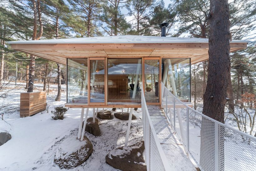 Fukushima Based Firm Life Style Koubou Has Embedded A Beautiful Vacation  Home On Stilts In The Middle Of An Evergreen Japanese Forest With Stunning  Mountain ...