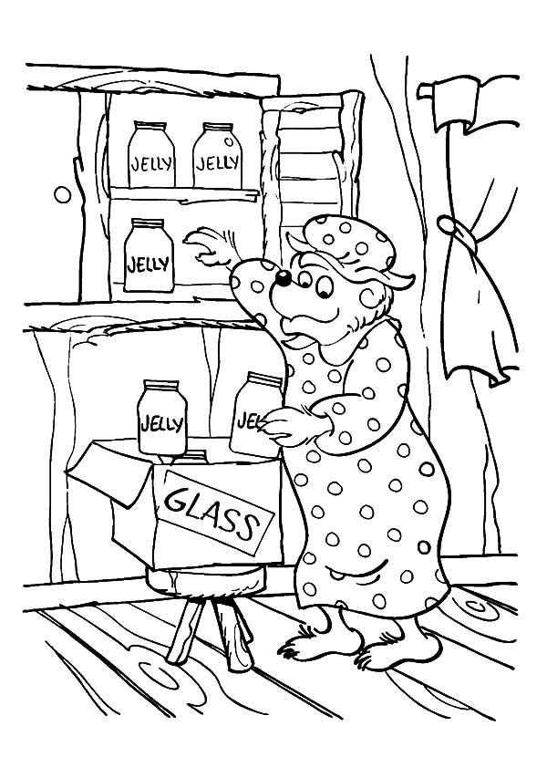 Mama Bear A Housewife Of Berenstain Bear Coloring Pages Best Place To Color Bear Coloring Pages Coloring Pages Cartoon Coloring Pages