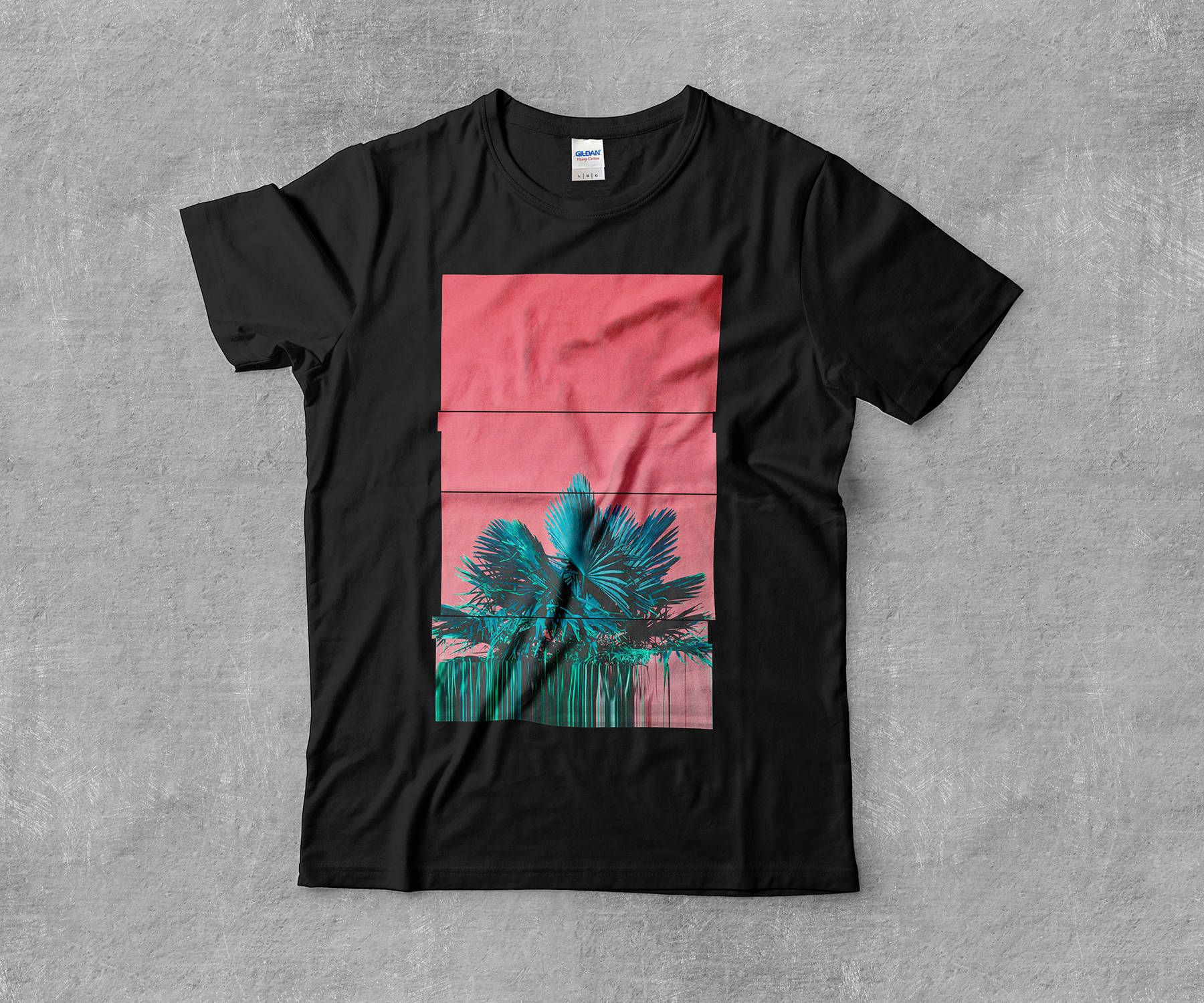 Vaporwave AESTHETIC བརད་ Tropical Palm Glitch Miami Art Skateboarding Internet Tumblr Art Sweatshirt fLNbUZIgvB