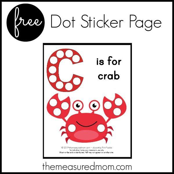 Free Letter C Printable C Is For Crab  Homeschool Preschool