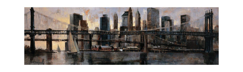 2e9677b255cb Down at East River Canvas Art