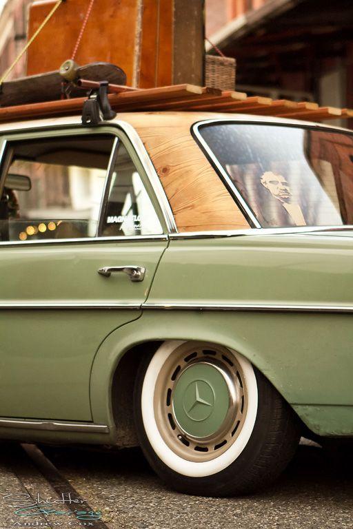 72 Mercedes W114 Old Skool Custom Check Out That Wood