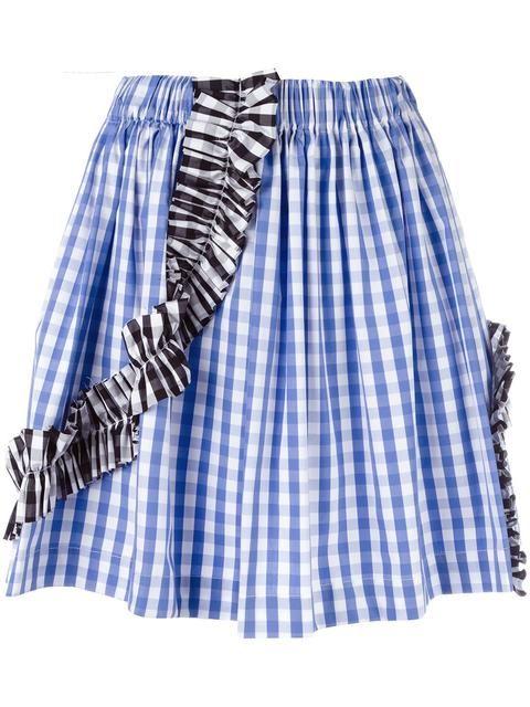 MSGM gingham check skirt