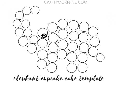 elepahnt cupcake cake template (2) | baby shower | Pinterest | Cake ...