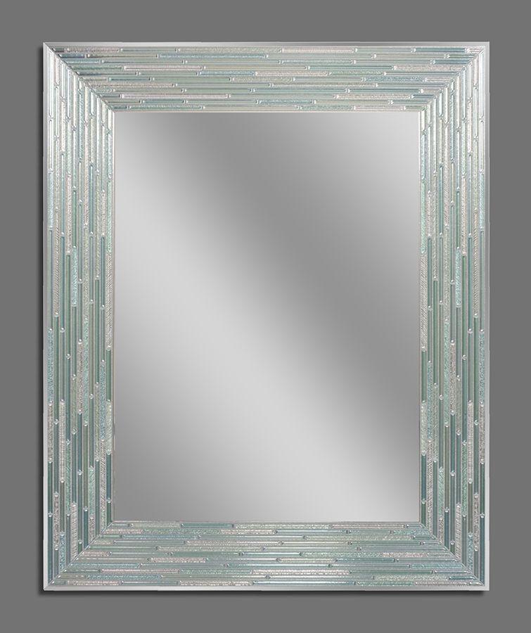 Reeded Sea Glass Decorative Frameless Wall Mirror 1205