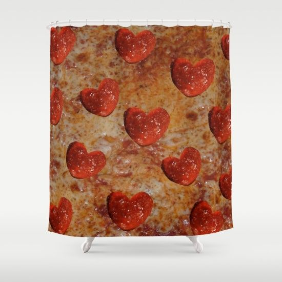Love Pizza Shower Curtain By UMe Images 6800