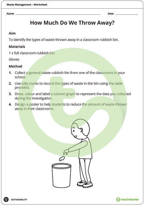 Waste Management Investigation - How Much Waste Do We Throw Away