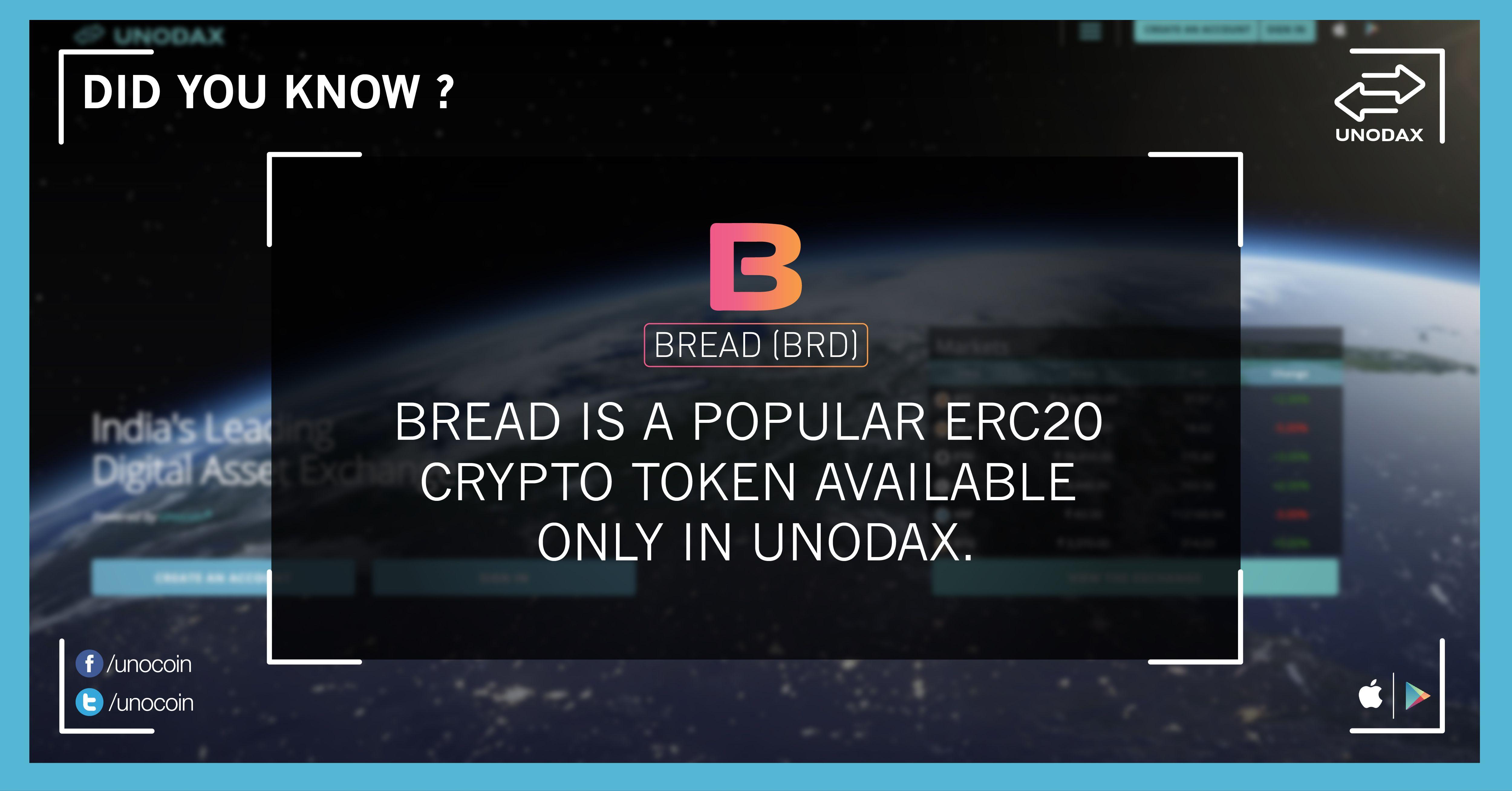 Bread Token is a popular ERC20 crypto token only available