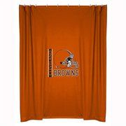 Sports Coverage Inc Cleveland Browns Shower Curtain Fabric Shower Curtains Kids Fabric Brown Shower Curtain
