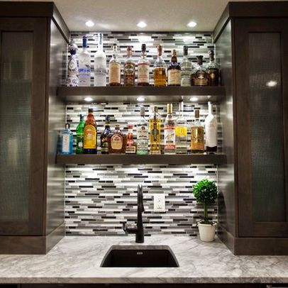 Contemporary Home Bar Design Pictures Remodel Decor And Ideas