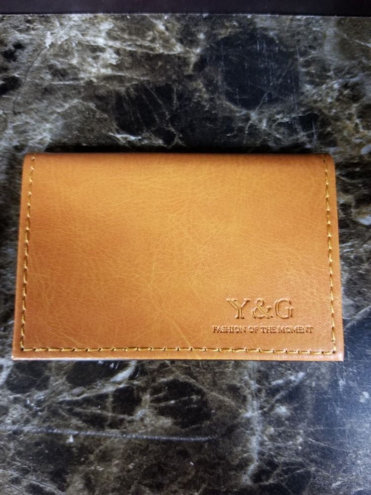 Metal And Orange Leather Business Card Holder Case Fashion Clothing Shoes Accessories Leather Business Cards Leather Business Card Holder Card Holder Case