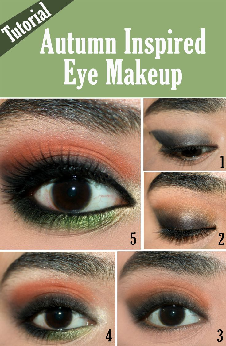 Autumn Inspired Eye Makeup Tutorial With Detailed Steps And Pictures