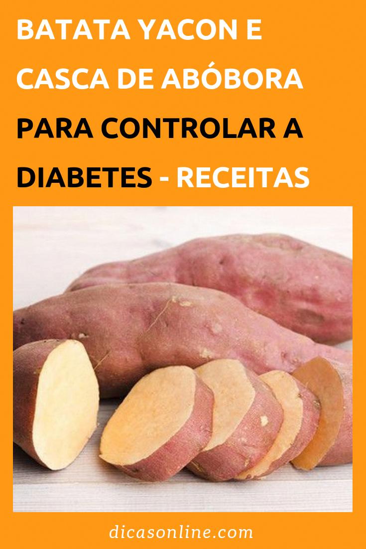 como usar a batata yacon para diabetes