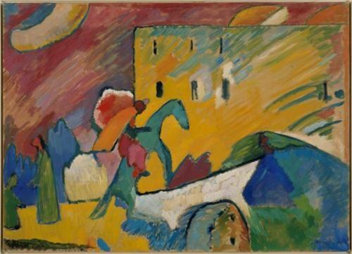 Improvisation 3 Wassily Kandinsky Kunstproduktion Idee Farbe Blauer Reiter