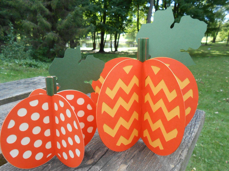 Fall decor for wedding Pumpkin Decorations D Set of  Halloween Thanksgiving Decor