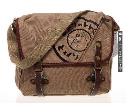 Nice Totorro Canvas Messenger Bag