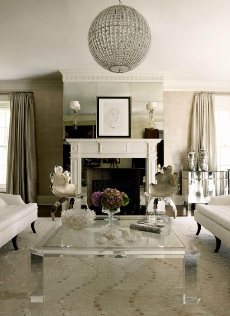 Living Room Ideas Blend Modern Glamour With Classic Elegance