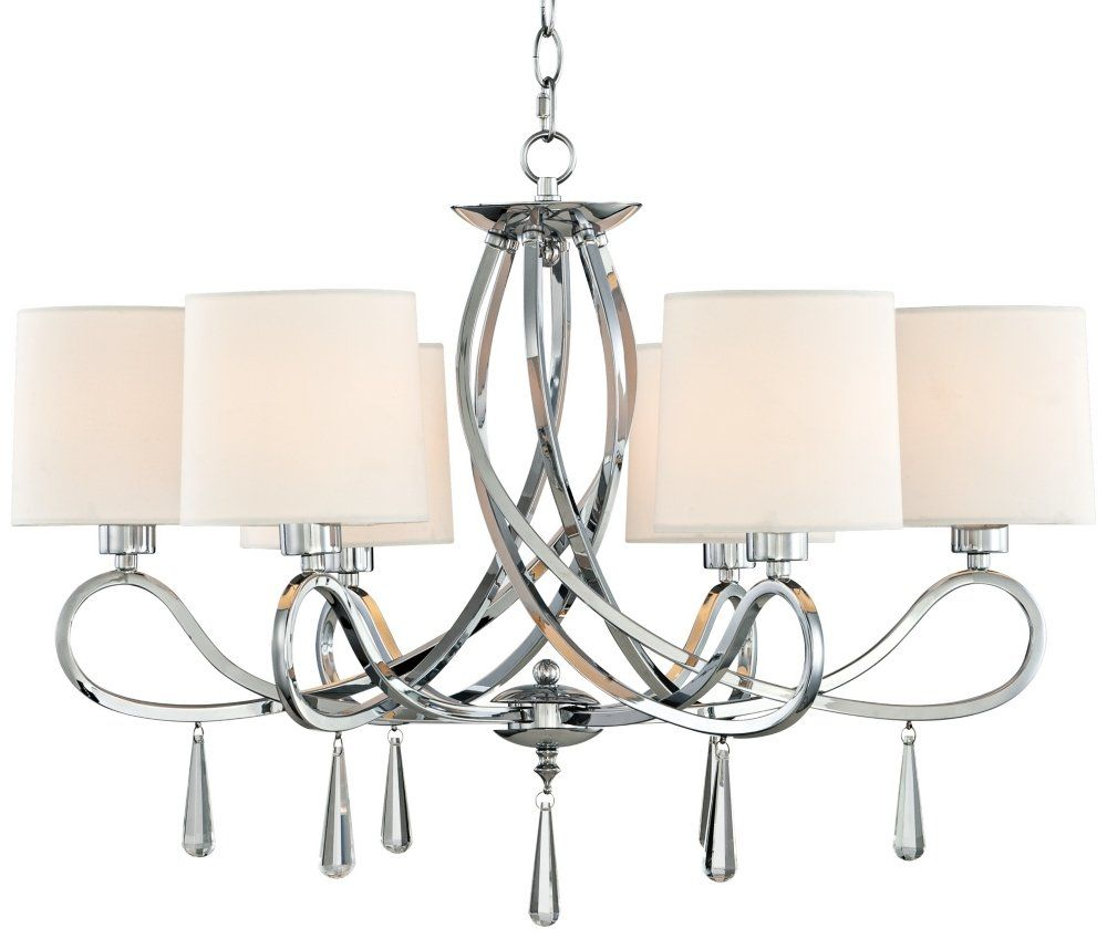 Chrome Swirl Glass Drop 26 Wide Chandelier Click Image For More