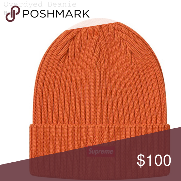 96852a48a Supreme - Overdyed Beanie - Rust - *Confirmed* Supreme Overdyed ...