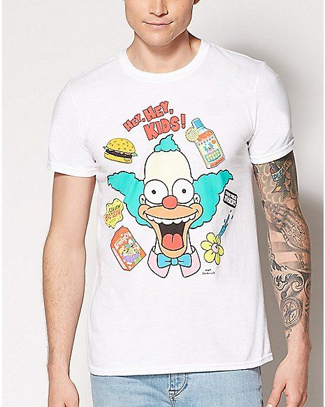 f98f2cdb1 Krusty the Clown T Shirt - The Simpsons - Spencer's | Graphic Tees ...